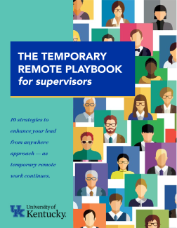 Book preview of the temporary remote playbook for supervisors